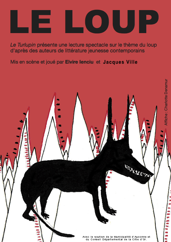 Affiche Le loup - Lecture-spectacle - Compagnie Le Turlupin