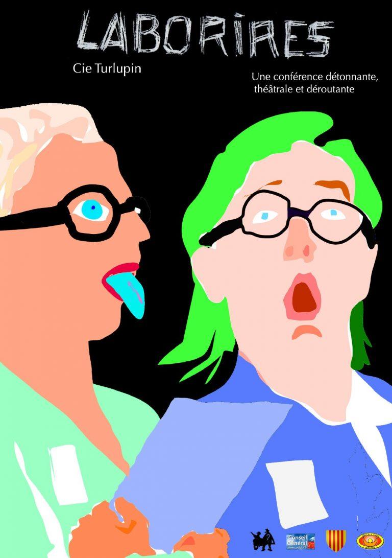 Affiche Le Labo rires - lecture-spectacle - Cie Le Turlupin