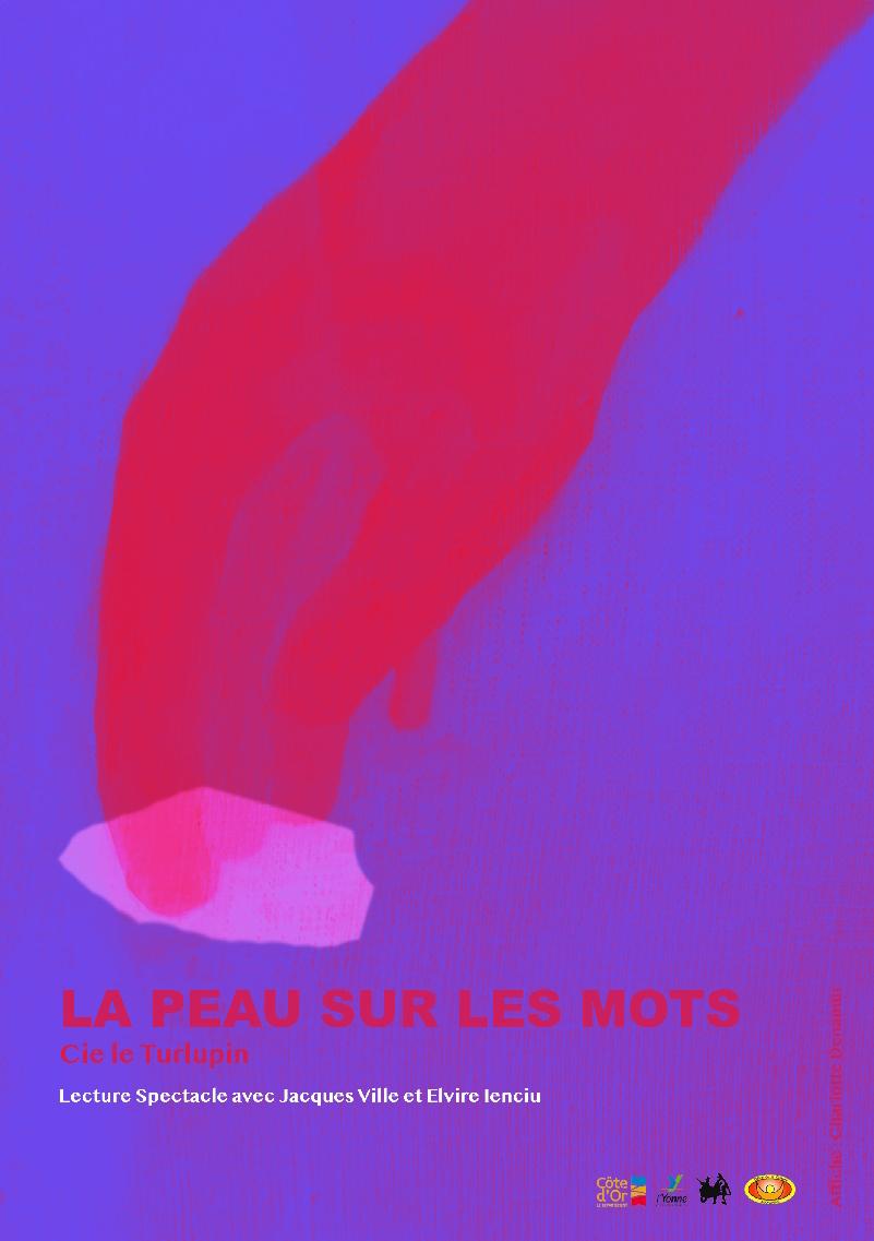 Affiche La peau sur les mots - Lecture-spectacle - Compagnie Le Turlupin